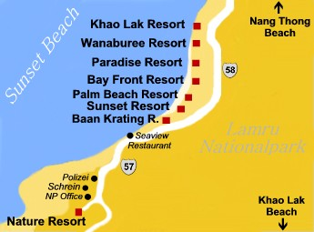 Khao Lak Sunset Beach - Khaolak Map